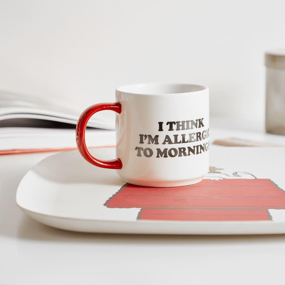 Peanuts Mug - Allergic To Mornings