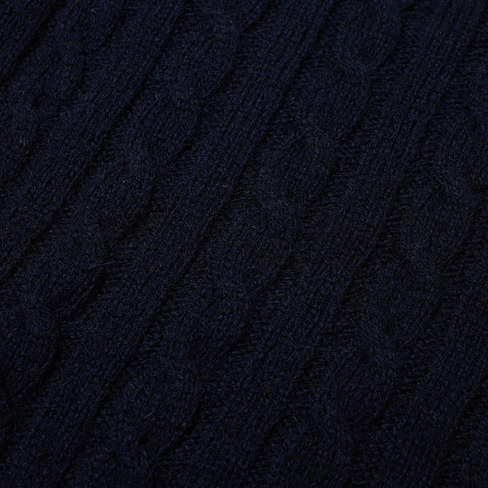 Jamieson's of Shetland Cable Crew Knit - Dark Navy