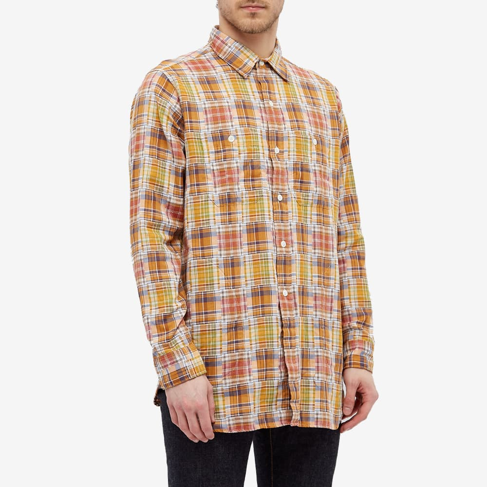 Nigel Cabourn Big Check Shirt - Mixed Stripe & Yellow Check