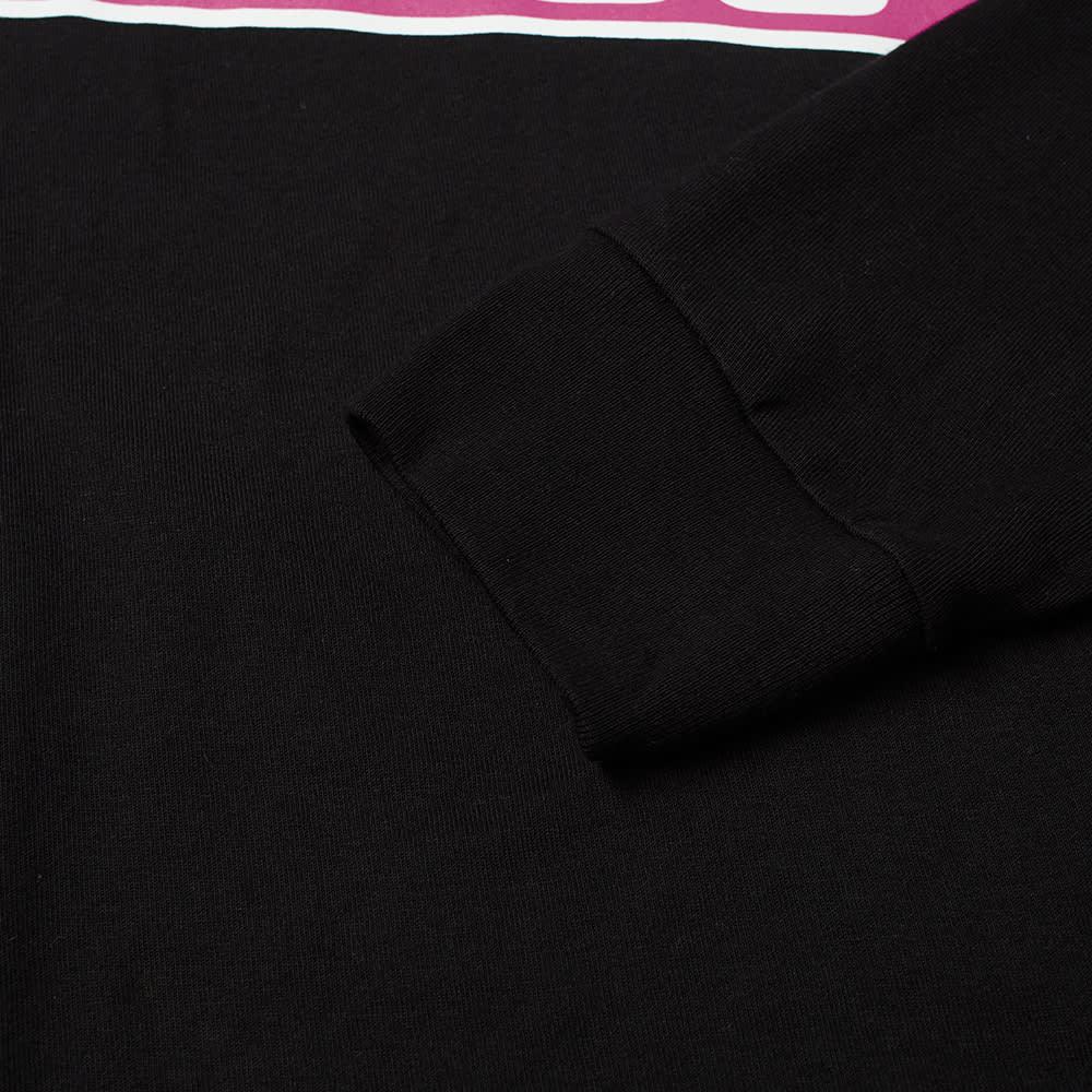 Stussy Long Sleeve Crowned Tee - Black
