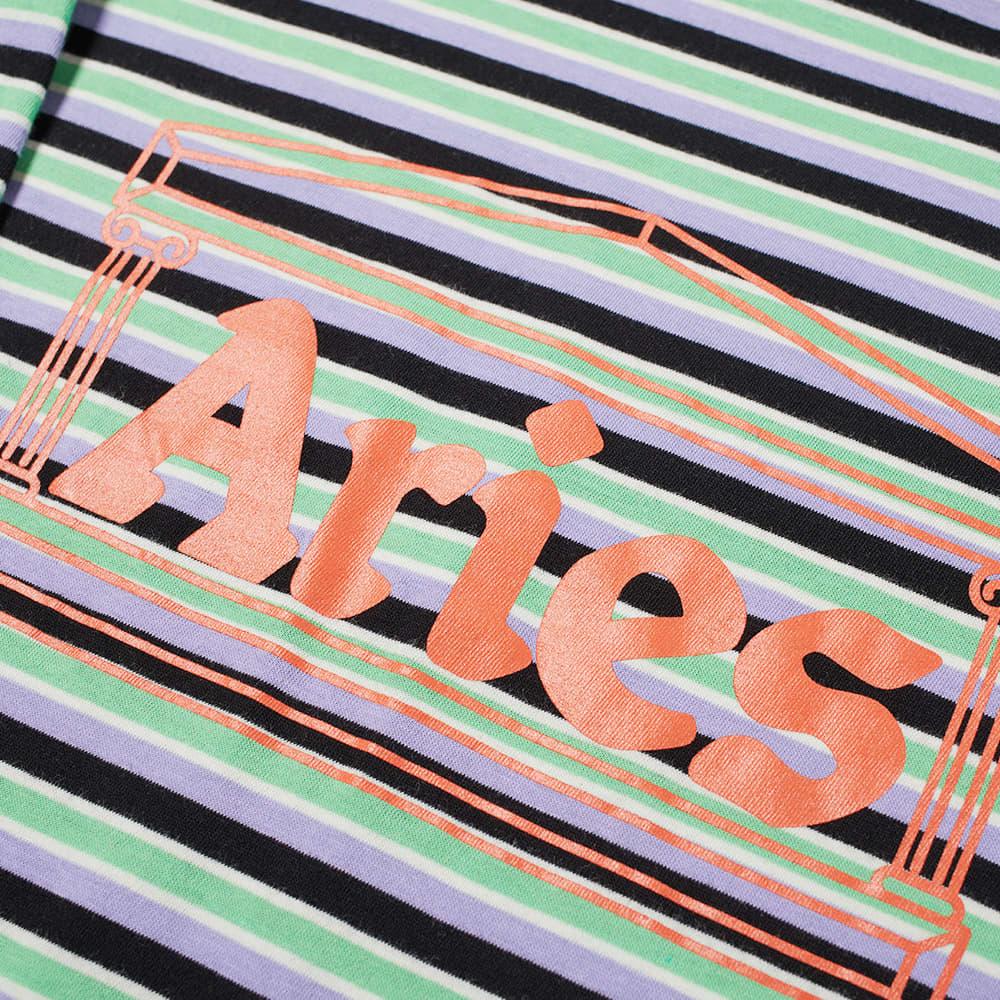Aries Striped Temple Tee - Green