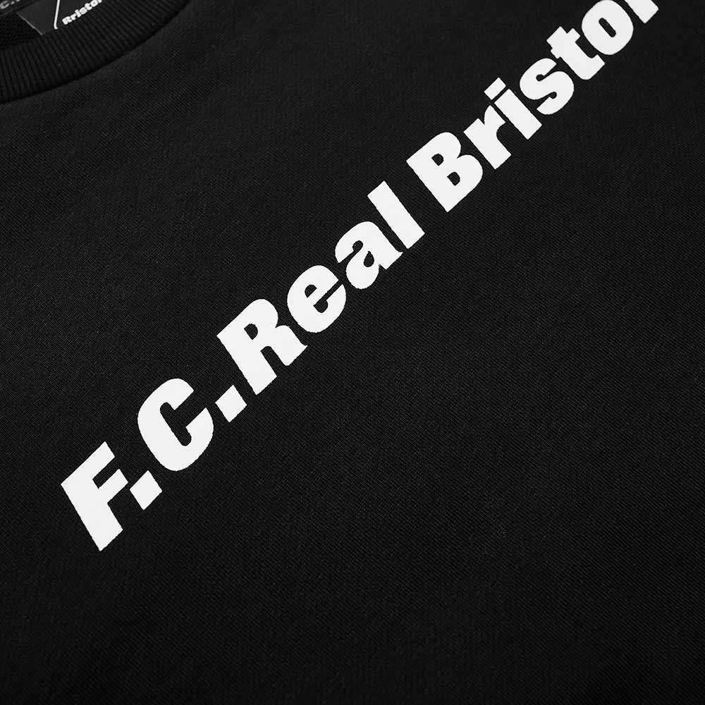 F.C. Real Bristol Authentic Logo Crew Sweat - Black
