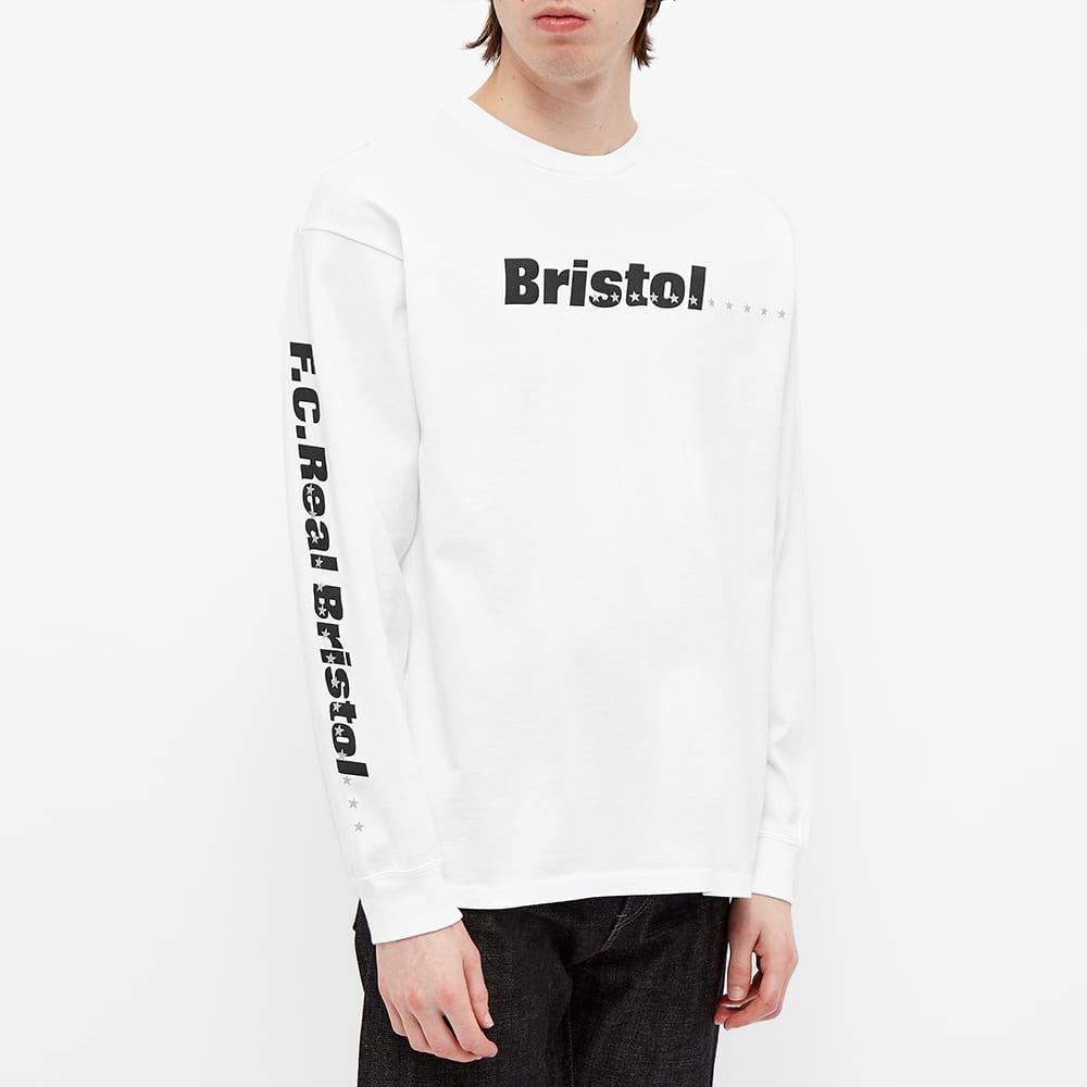 F.C. Real Bristol Long Sleeve Reflective 45 Stars Tee - White