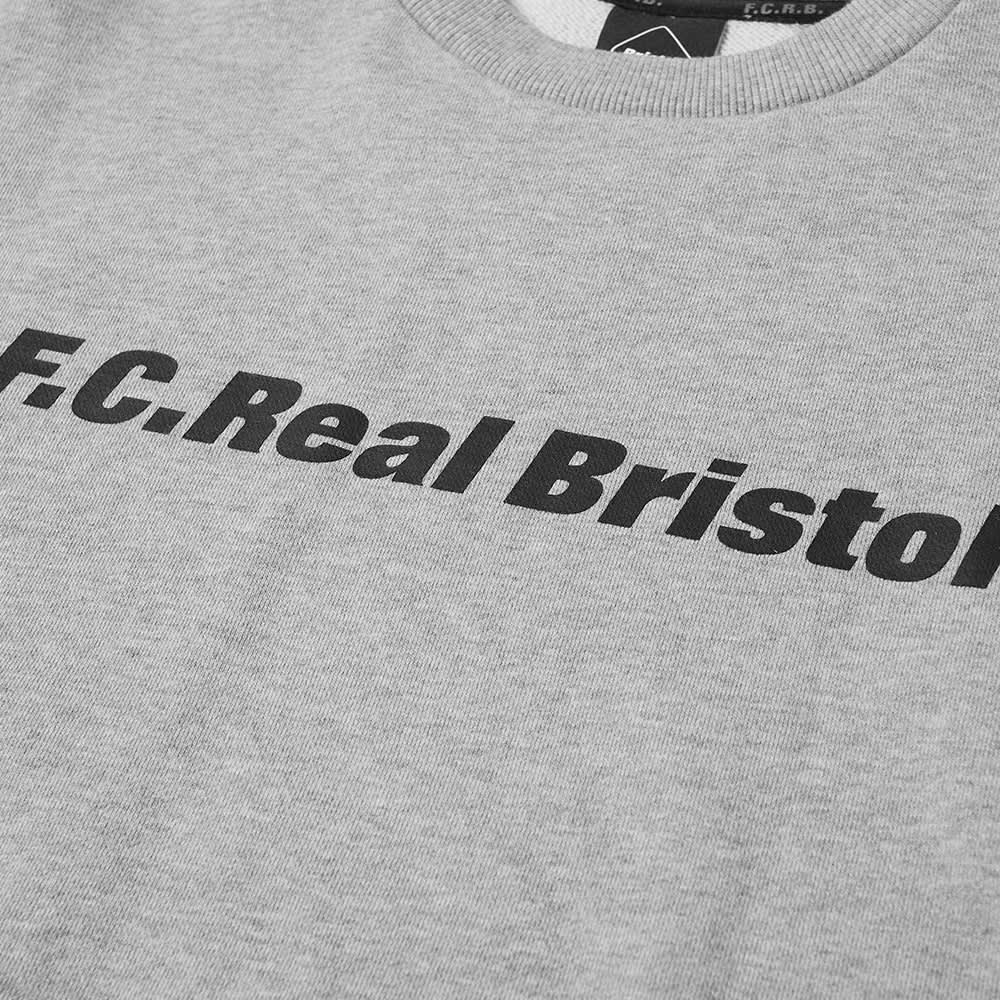F.C. Real Bristol Authentic Logo Crew Sweat - Grey