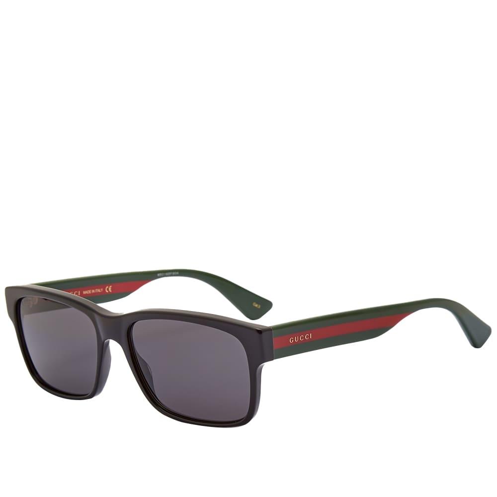 Gucci Sylvie Striped Sunglasses - Black