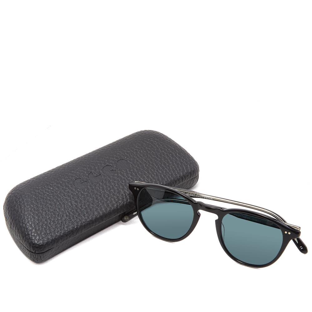 Garrett Leight Hampton Sunglasses - Black & Blue Smoke Polarized