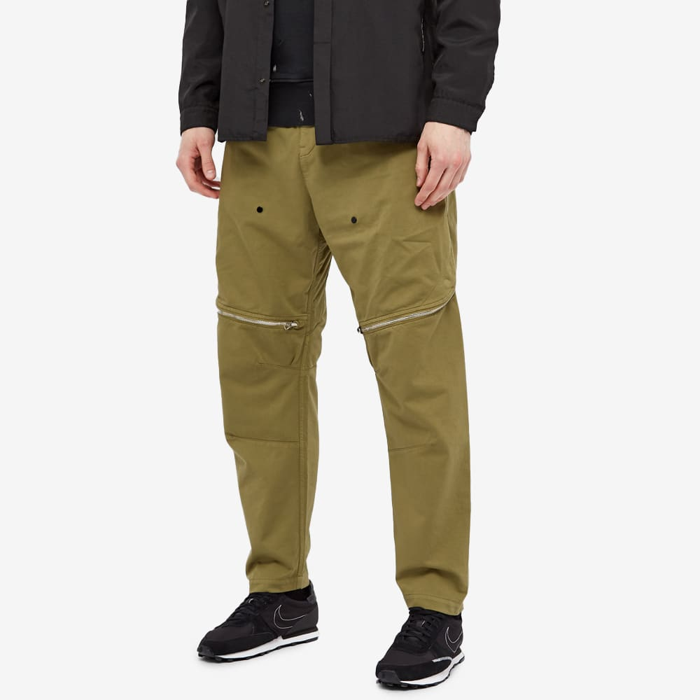 Stone Island Shadow Project Vented Zip Cargo Pant - Olive