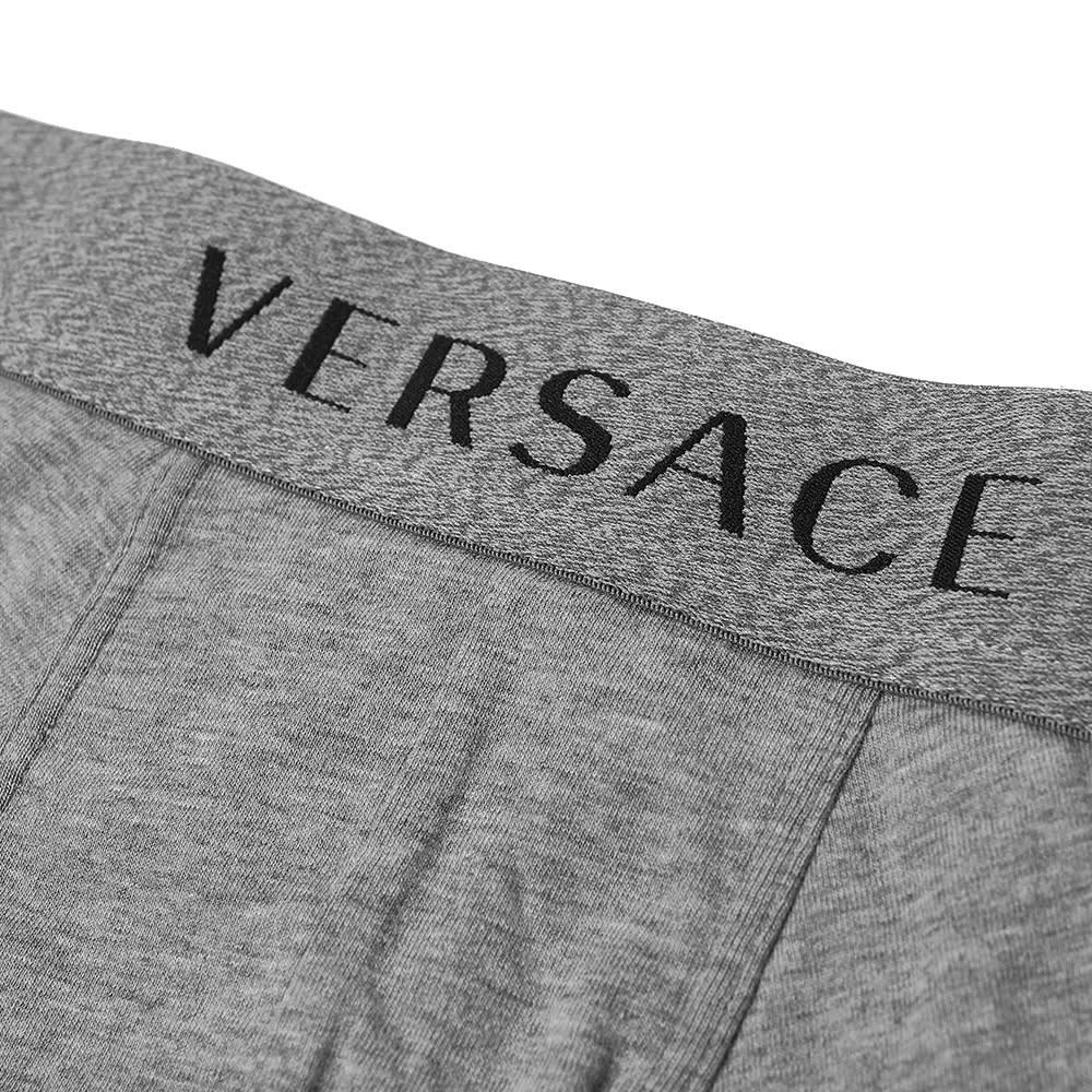 Versace Logo Waistband Trunks - 3 Pack - Black, White & Grey