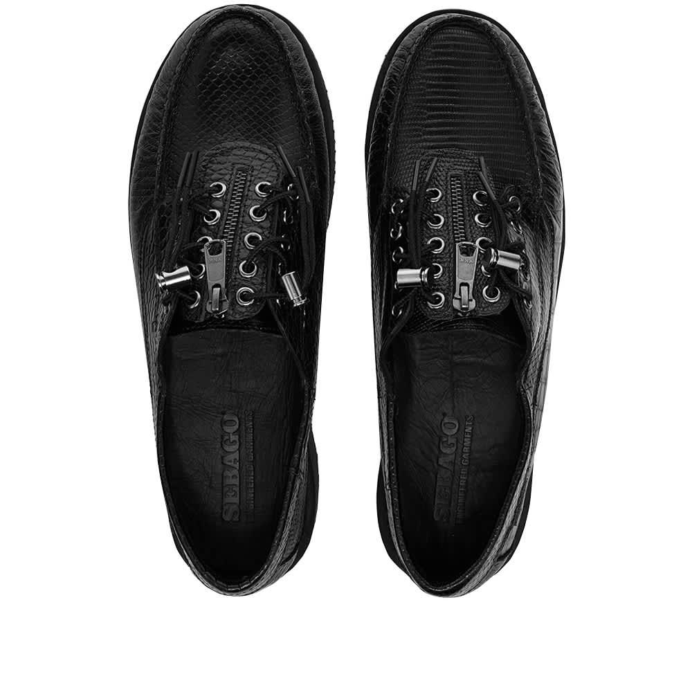 Sebago x Engineered Garments Zipper Deck Exotic - Black