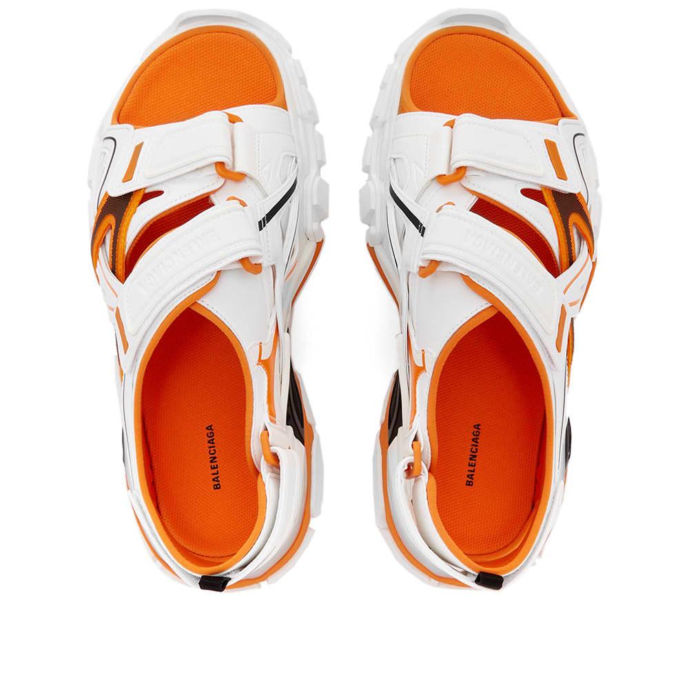 Balenciaga Track Sandal - White & Orange