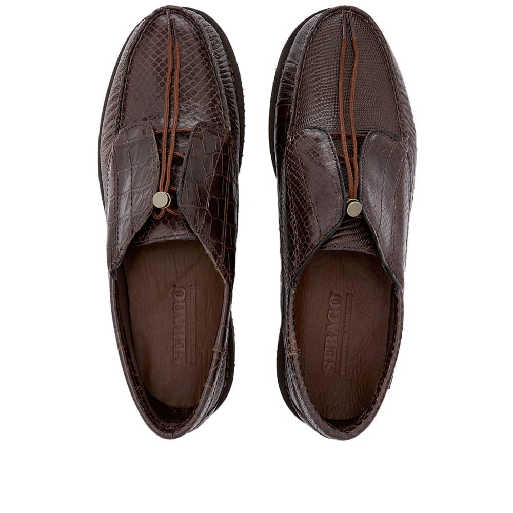 Sebago x Engineered Garments Cover Deck Exotic - Dark Brown