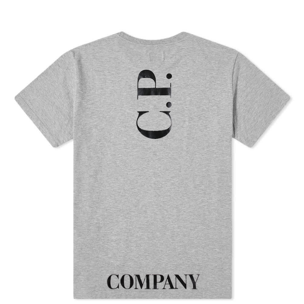 C.P. Company Undersixteen Chest Logo Tee - Grey Melange