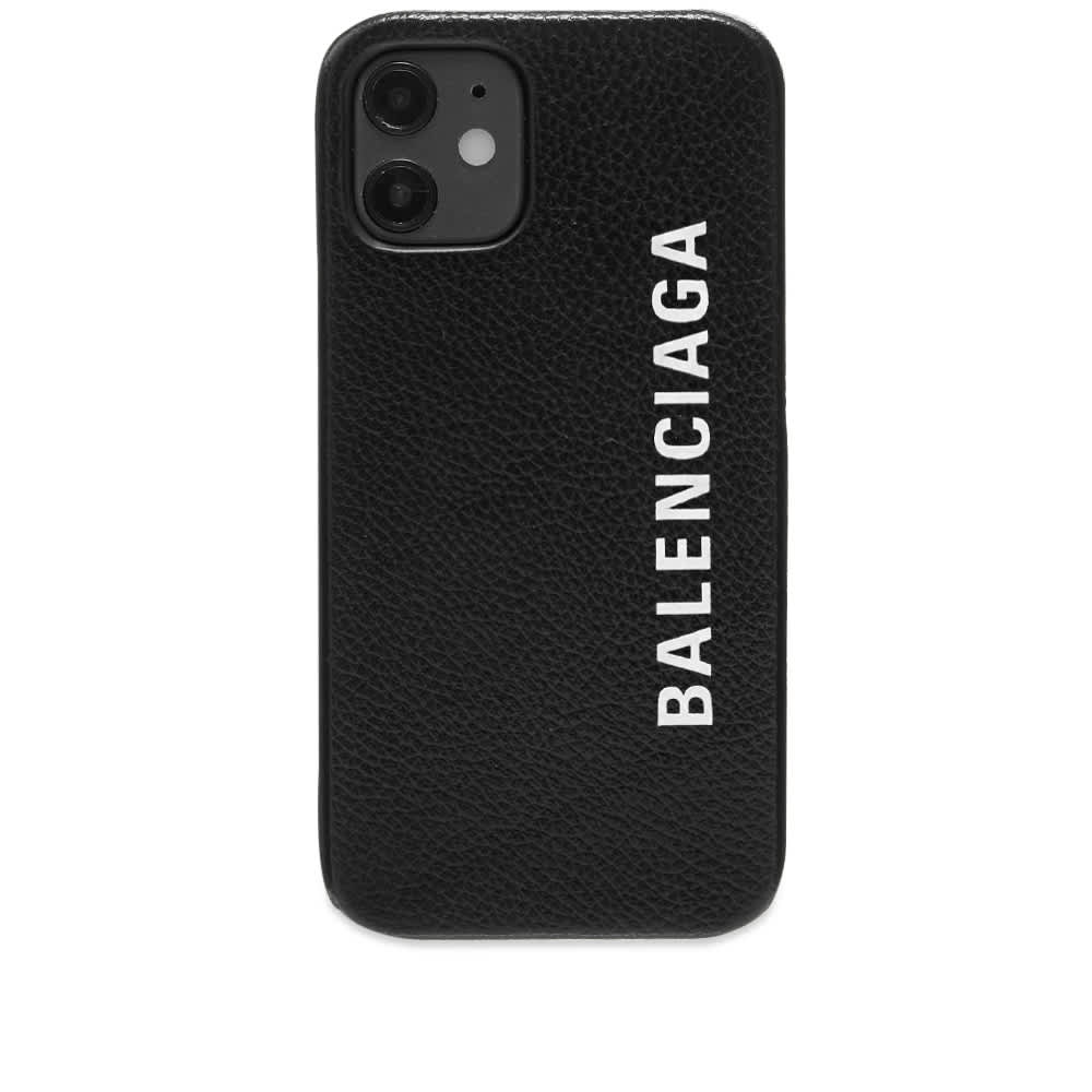 Balenciaga Logo iPhone 12 Case - Black & White
