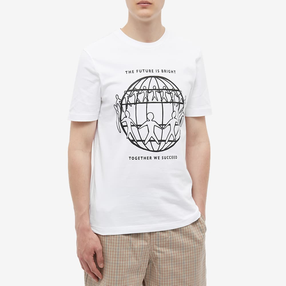 Tommy Jeans Earth Day Front Logo Tee - Optic White