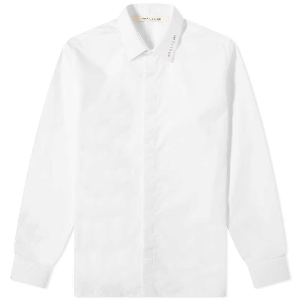 1017 ALYX 9SM Metal Logo Button Down Shirt - White
