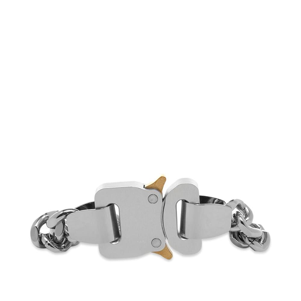 1017 ALYX 9SM Metal and Nylon Chain Bracelet  - Silver & Transparent
