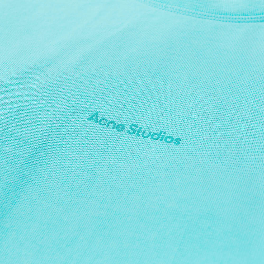 Acne Studios Erwin Long Sleeve Stamp Tee - Jade Green