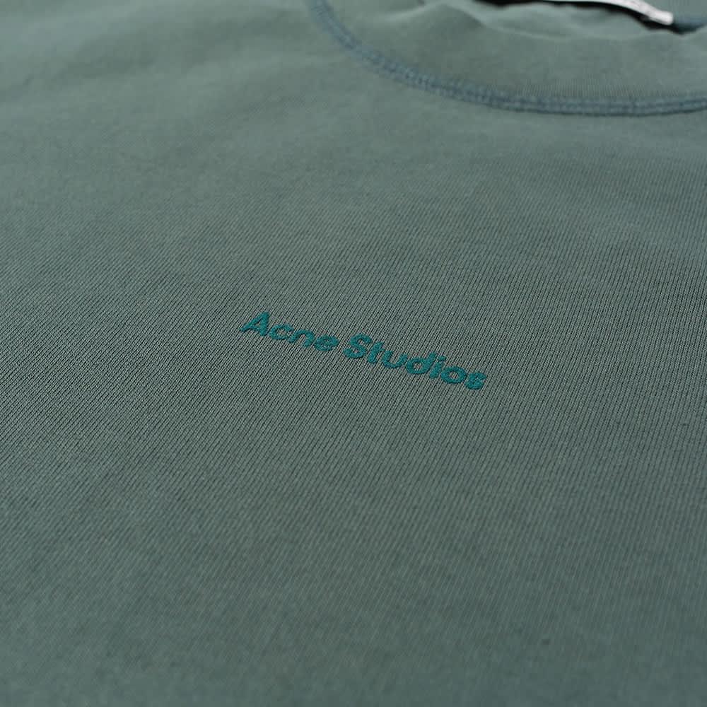 Acne Studios Extorr Stamp Logo Tee - Pine Green