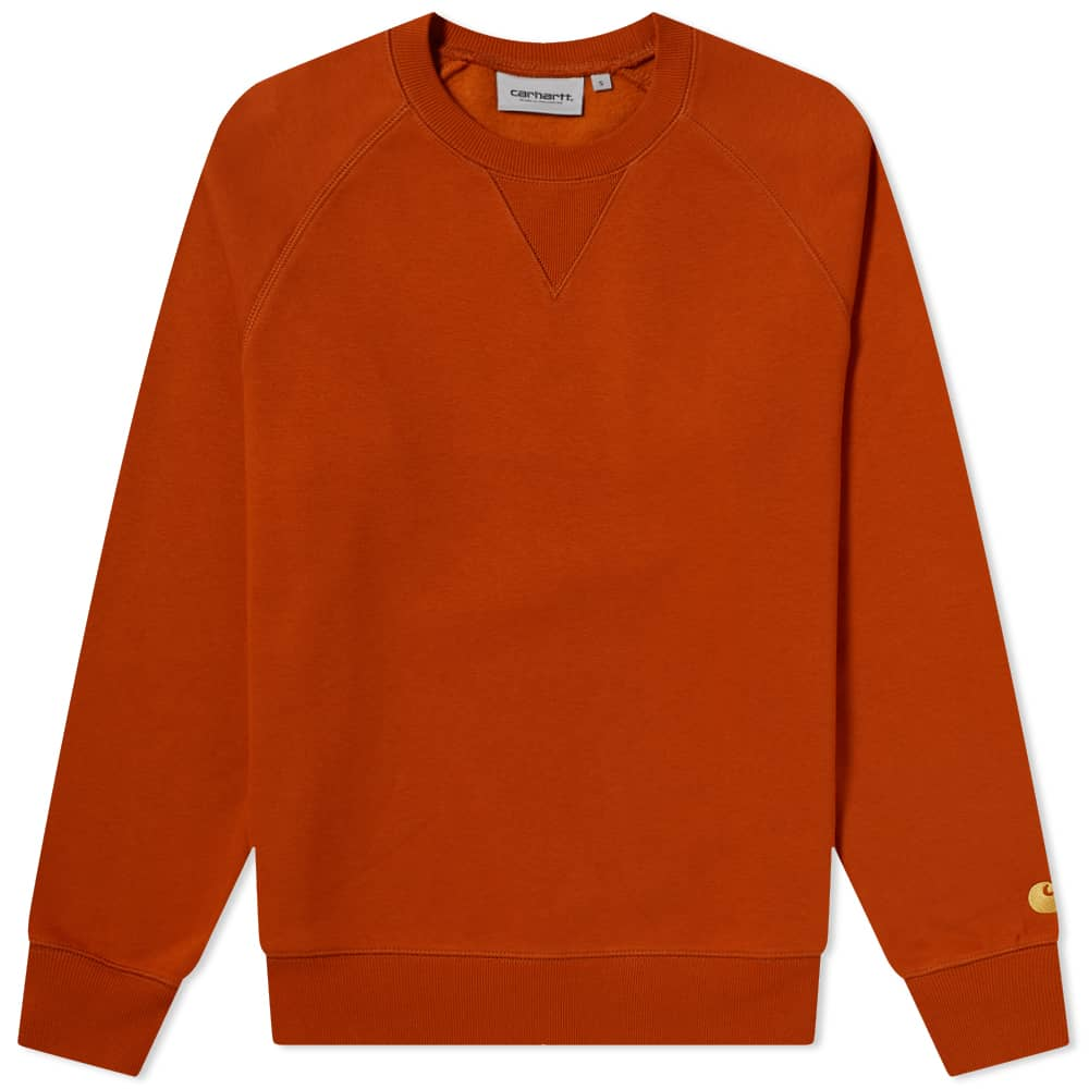 Carhartt WIP Chase Sweat - Copperton & Gold