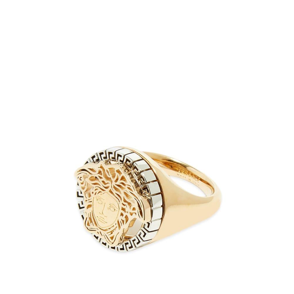 Versace Medusa Head Ring - Gold & Silver
