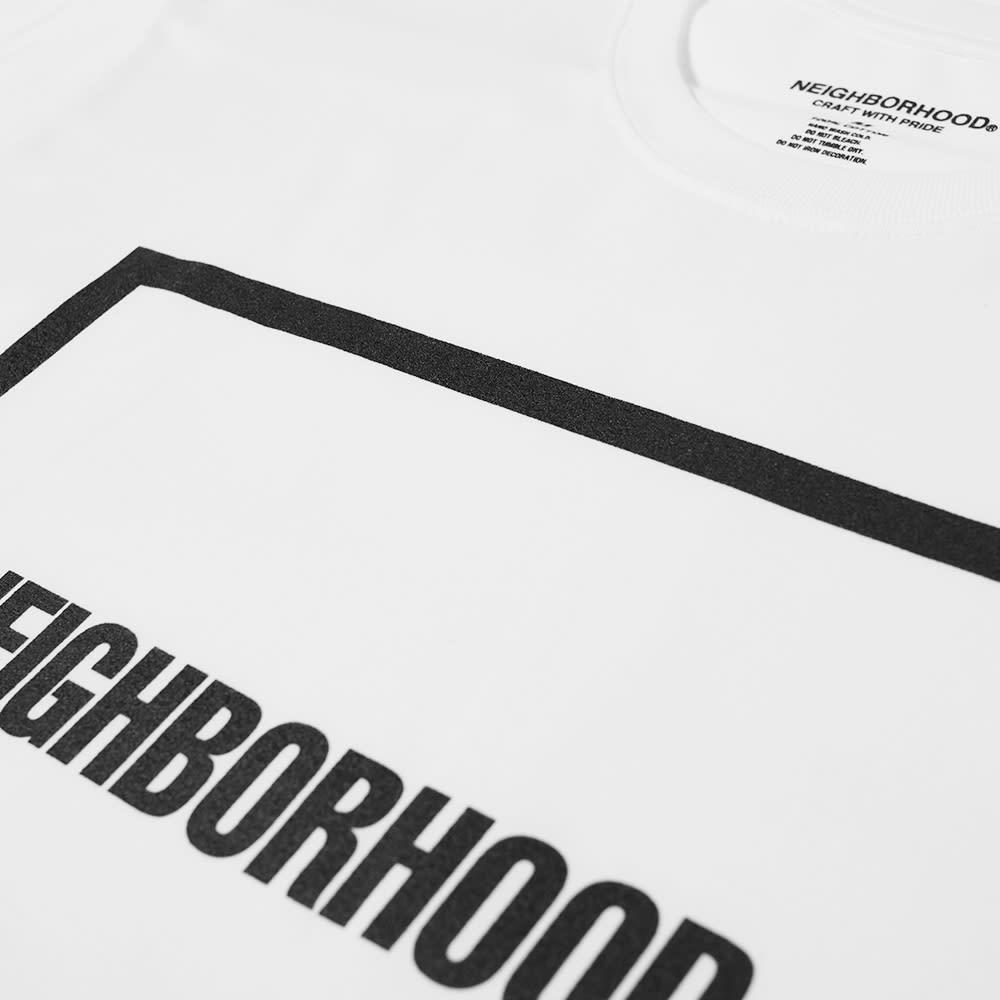 Neighborhood CI-1 Square Box Logo Tee - White & Black
