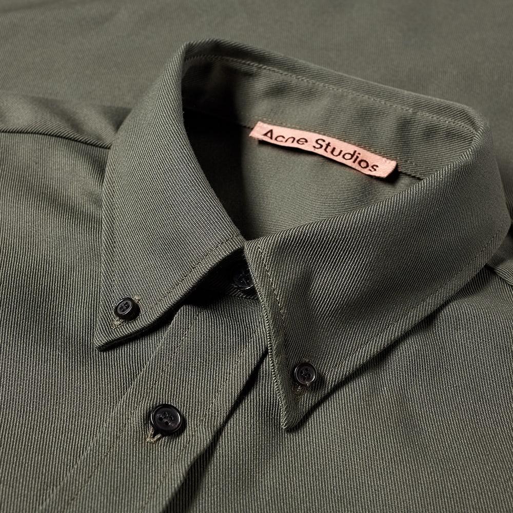 Acne Studios Spartan Cotton Mix Twill Shirt - Stone Grey
