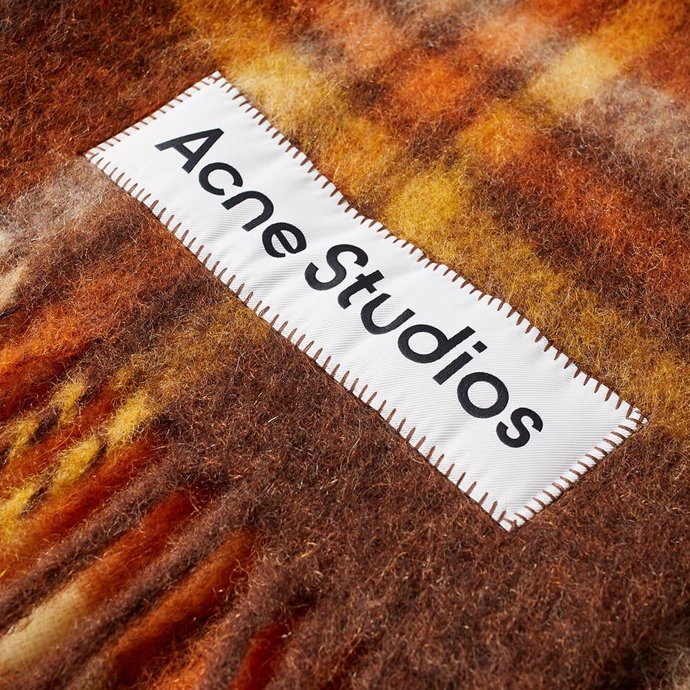 Acne Studios Vally Tartan Blanket - Brown & Orange
