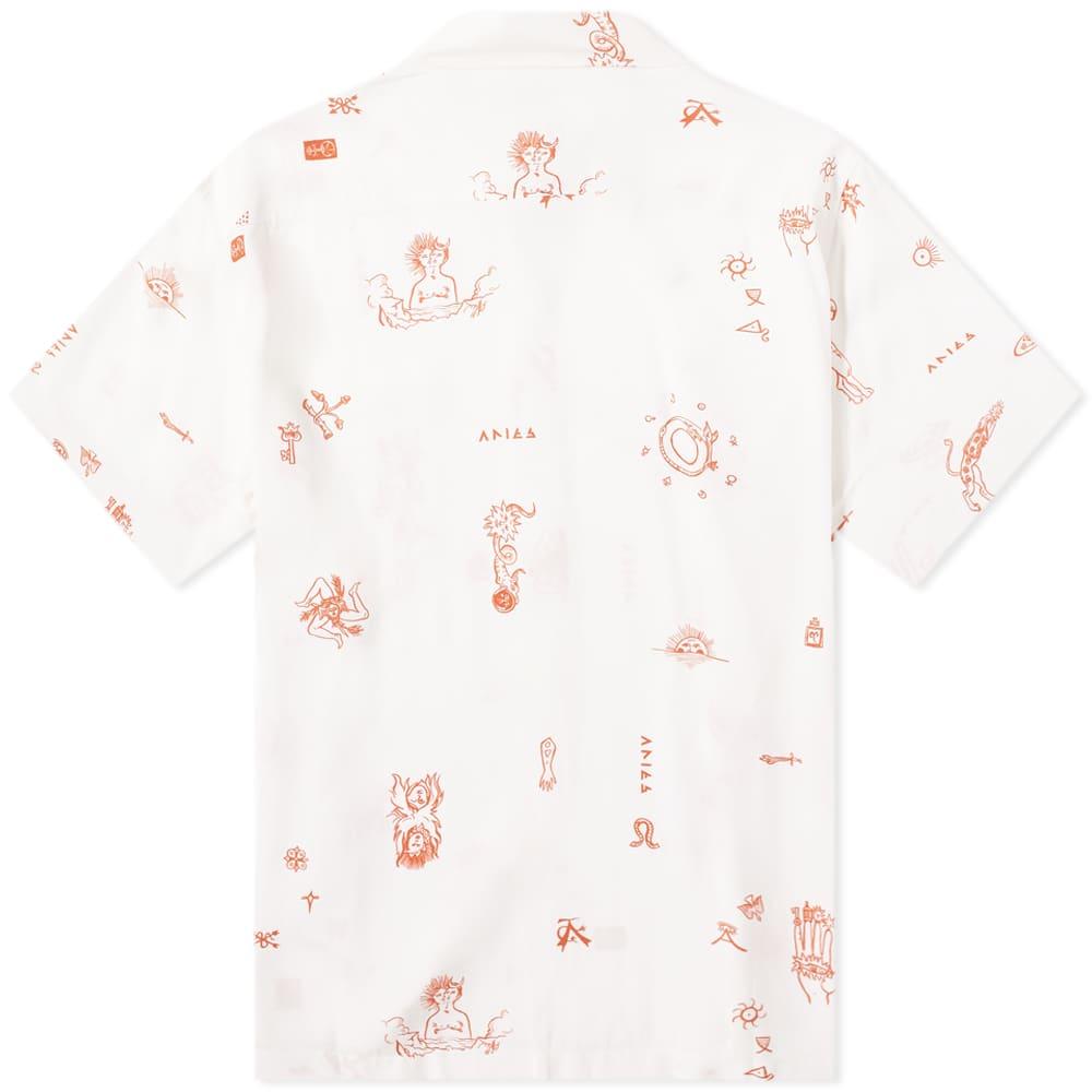 Aries Mystic Print Hawaiian Shirt - Ecru