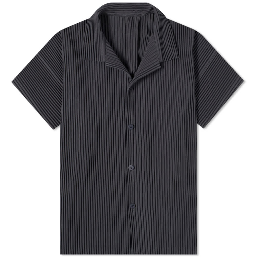 Homme Plissé Issey Miyake Pleated Vacation Shirt - Charcoal Grey