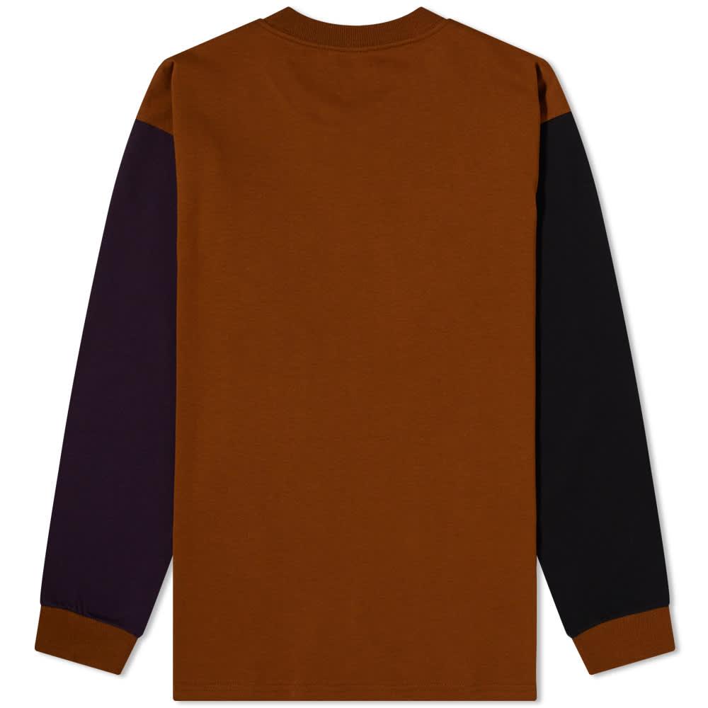 Carhartt WIP Long Sleeve Triple Pocket Tee - Tawny, Black & Dark Iris