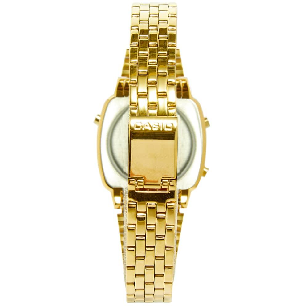 Casio Vintage Ladies Digital Watch - Gold