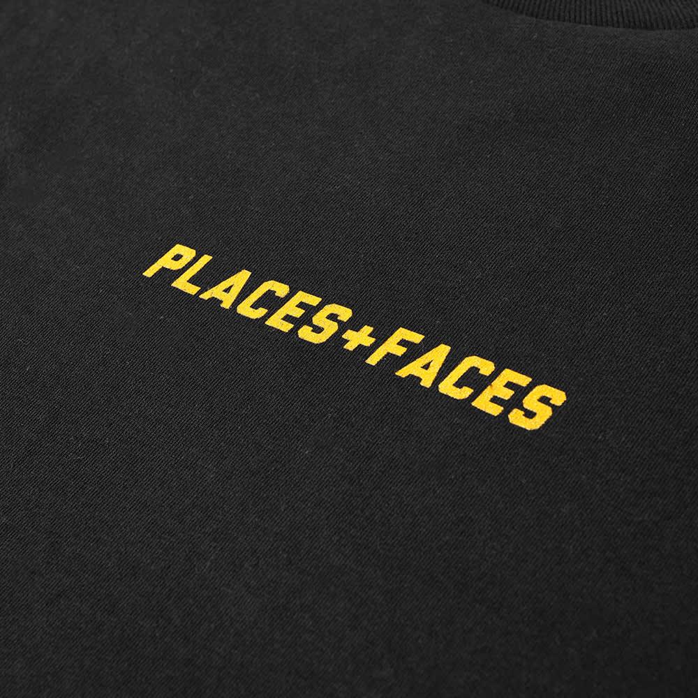 PLACES+FACES Logo Tee - Black & Yellow