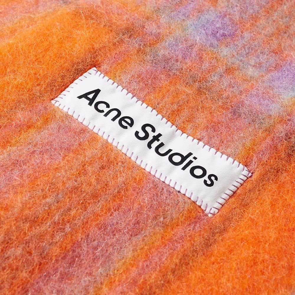 Acne Studios Vally Tartan Scarf - Orange