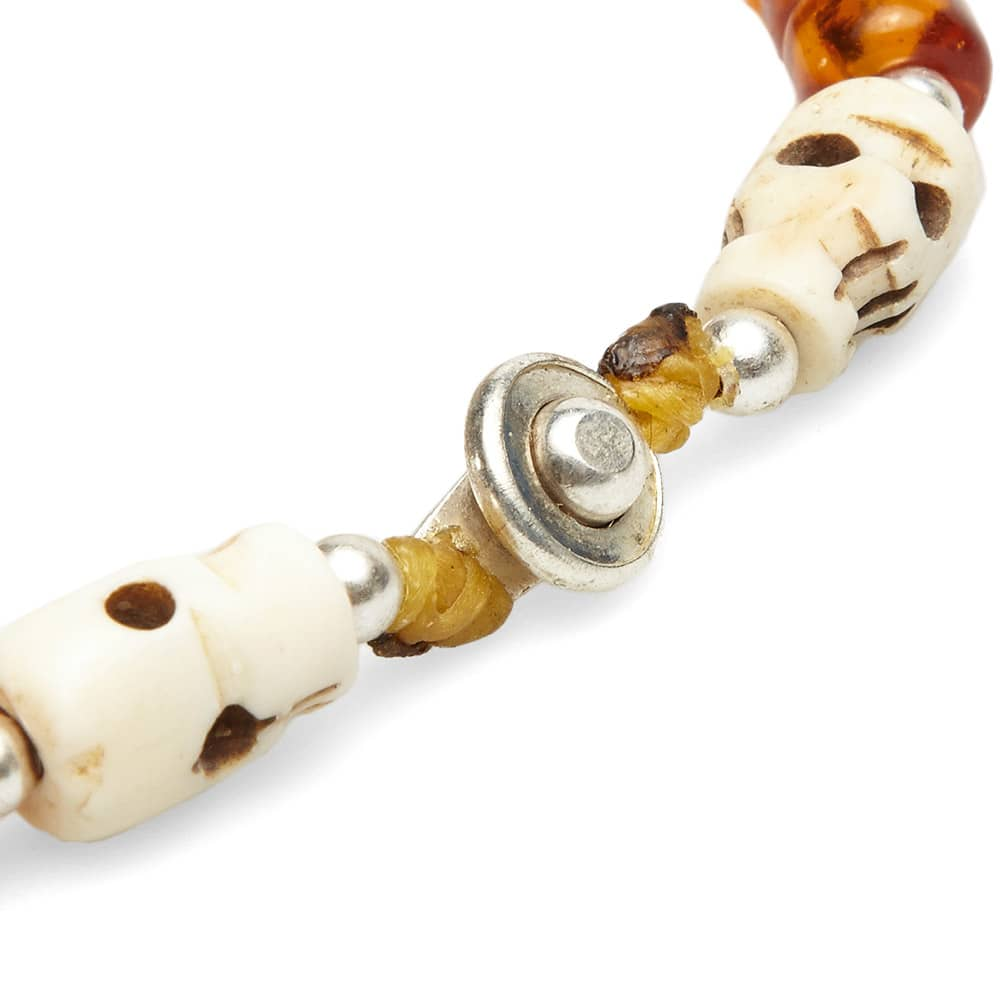 Dr. Wieser by LALMFG Skull & Bead Bracelet - Amber