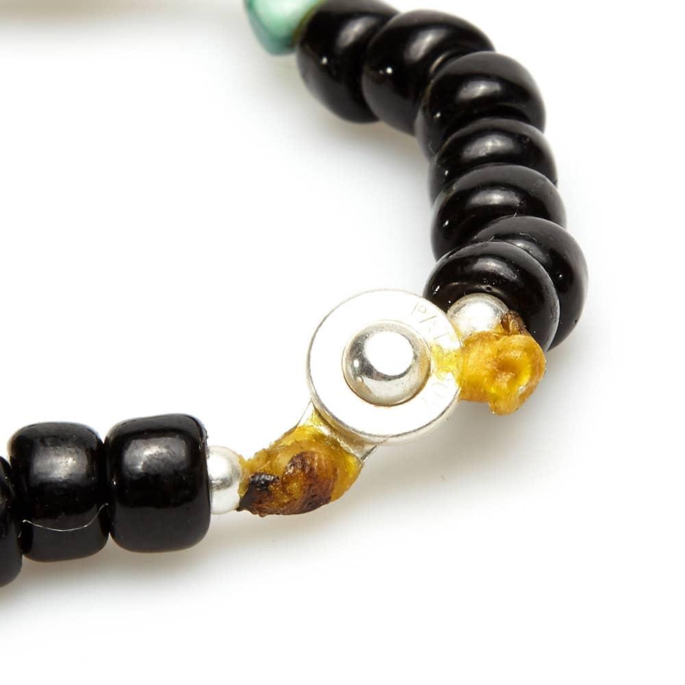 Dr. Wieser by LALMFG Skull & Bead Bracelet - Black & Turquoise