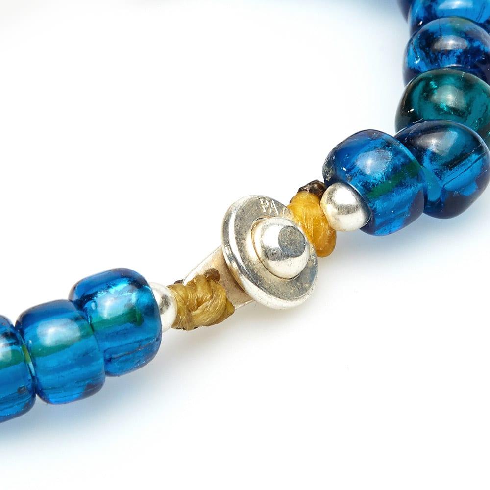 Dr. Wieser by LALMFG Skull & Bead Bracelet - Blue