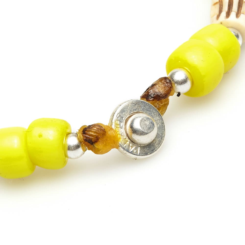 Dr. Wieser by LALMFG Skull & Bead Bracelet - Yellow