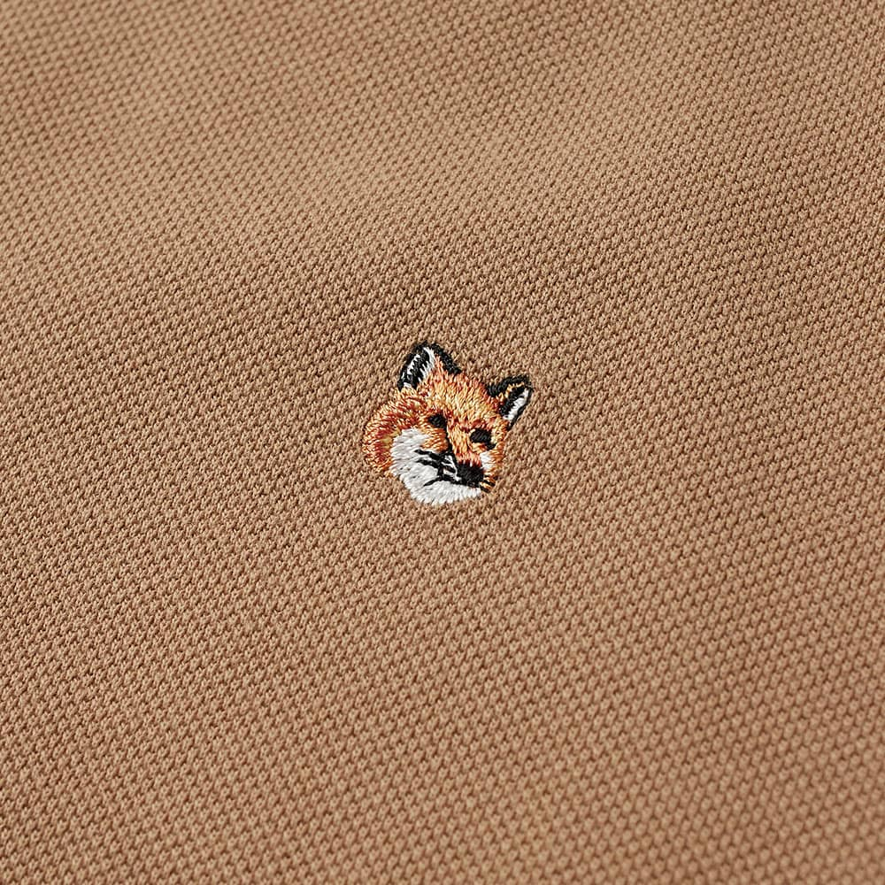 Maison Kitsuné Fox Head Embroidery Polo - Beige