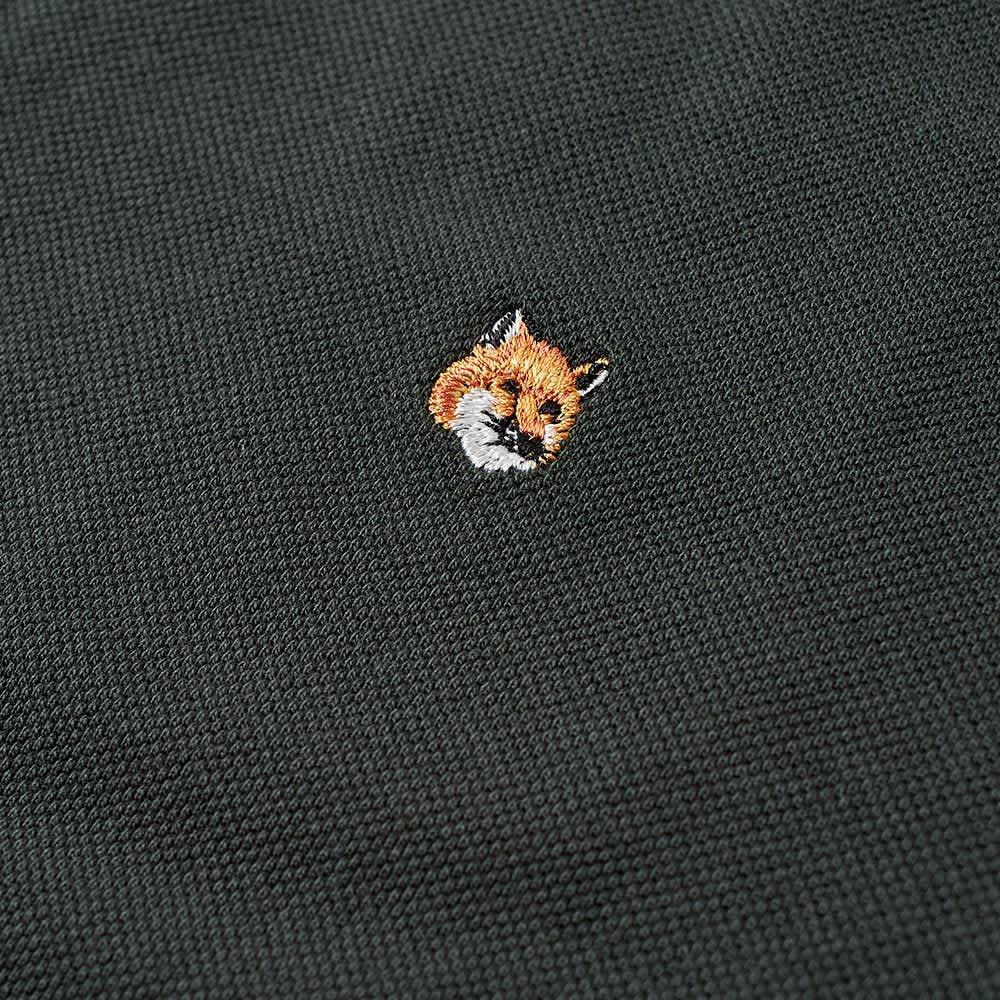 Maison Kitsuné Fox Head Embroidery Polo - Dark Green