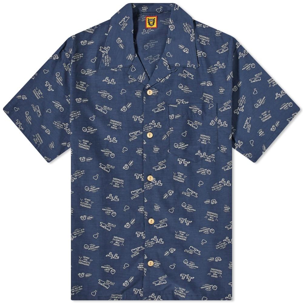 Human Made Animal Logo Vacation Shirt - Navy