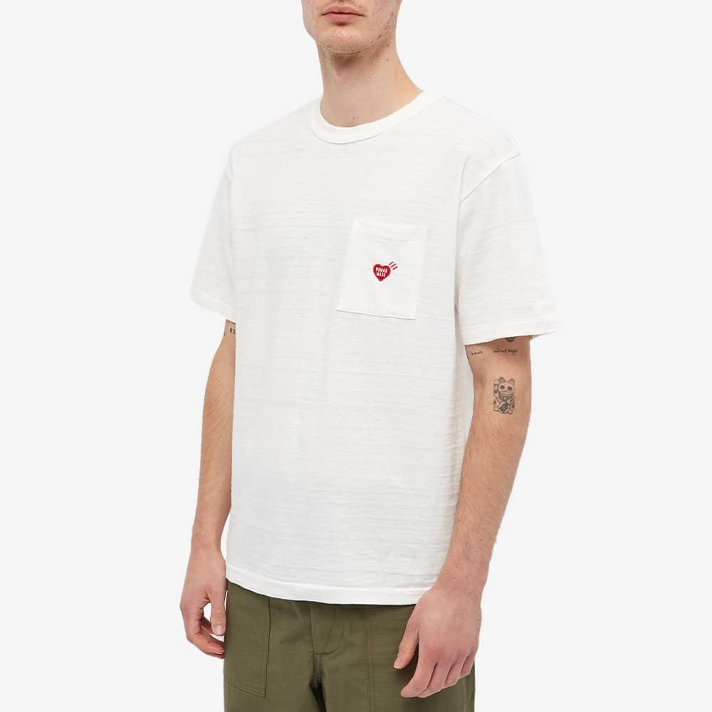Human Made Heart Pocket Tee - White