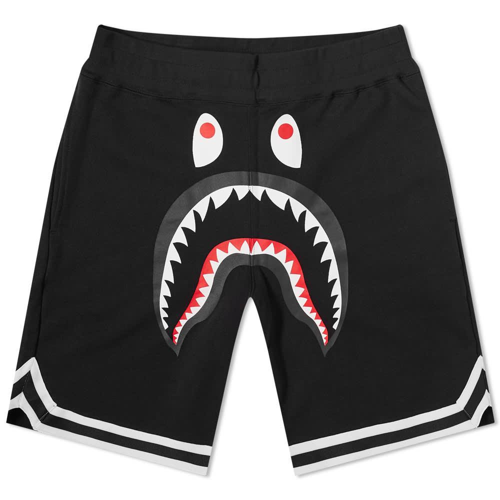 A Bathing Ape Shark Basketball Sweat Short - Black