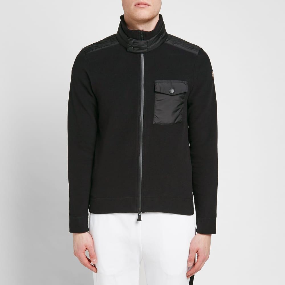 Moncler Grenoble Nylon Patch Zip Fleece - Black