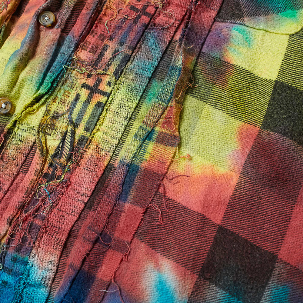 Needles 7 Ribbon Cuts Tie Dye Flannel Shirt - Assorted