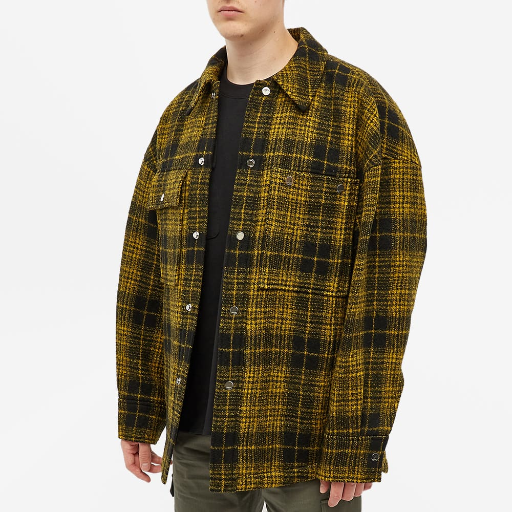 Wooyoungmi Quilted Check Shirt Jacket - Yellow