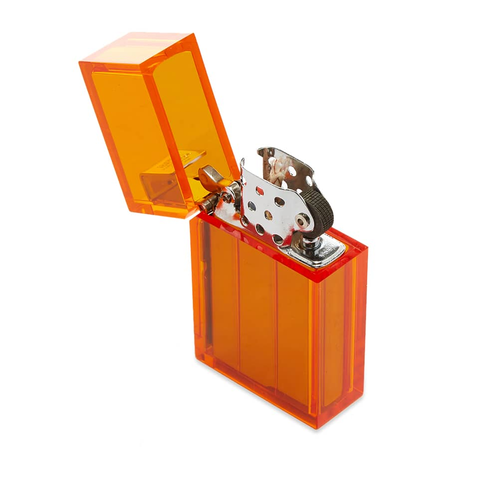 Tsubota Pearl Hard Edge Petrol Lighter - Clear Orange