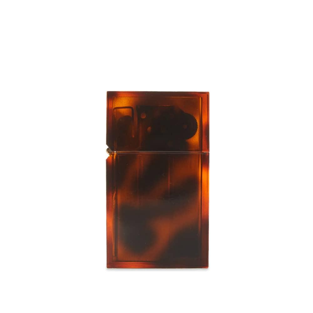 Tsubota Pearl Hard Edge Petrol Lighter - Marble Brown Tortoise