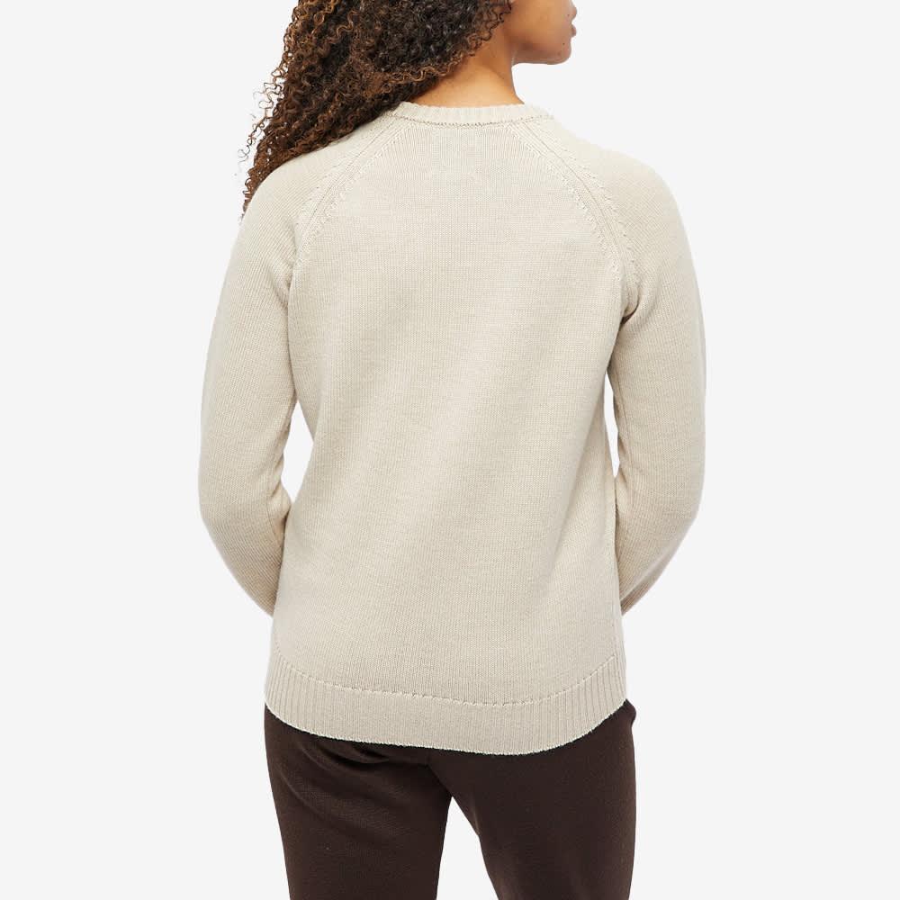 Daniëlle Cathari x Woolrich Logo Merino Jumper - Cream Grey Melange