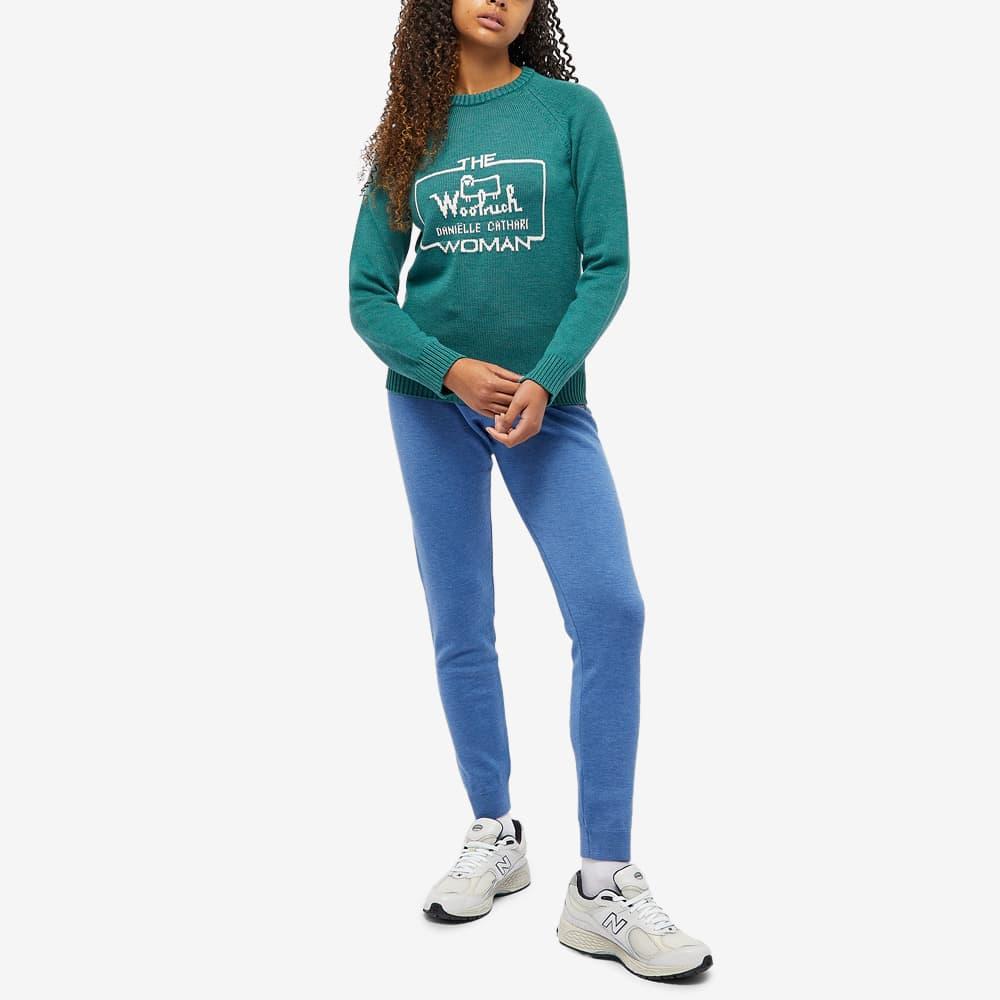Daniëlle Cathari x Woolrich Logo Merino Jumper - Pine Melange