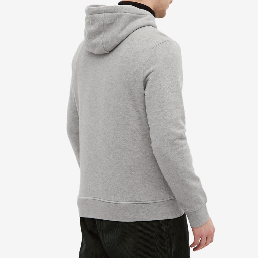 Napapijri Large Box Logo Popover Hoody - Grey Melange
